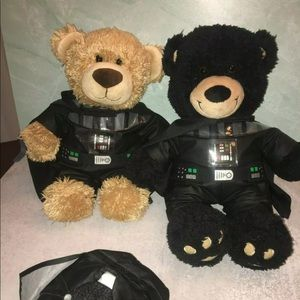 Two Darth Vader Build-A-Bear Star Wars Plush Toy